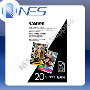 "Canon Zink Mini Photo Printer Paper 2""x3"" 20 Sheets Pack"