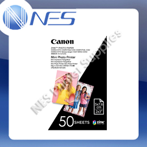 "Canon Zink Mini Photo Printer Paper 2""x3"" 50 Sheets Pack"