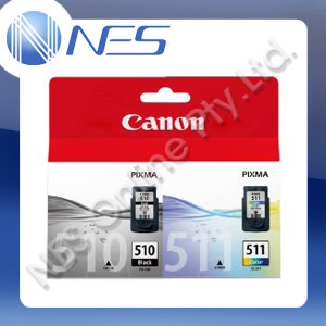 CANON Genuine PG510+CL511 TWIN PACK Ink Cartridges for PIXMA MP230,MP240,MP250,MP260,MP270,MP280,MP480,MP490,MP495,MX320,MX330,MX340,MX350,MX360,MX410,MX420,IP2700 Printer (220 Pages Yield)