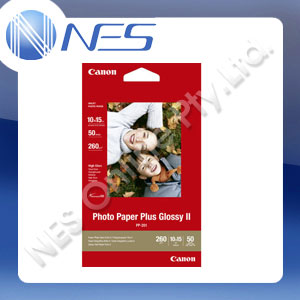 "Canon PP201 50x Pack 4x6"" Photo Paper Plus Glossy II for Canon PIXMA Printer"