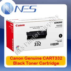 Canon Genuine Cart332 Black Standard Yield Toner Cartridge for LASER SHOT LBP7780Cx