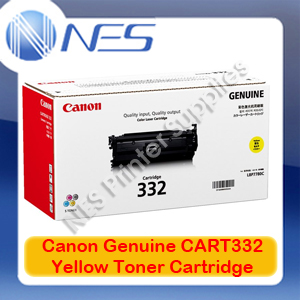 Canon Genuine Cart332Y Yellow Standard Yield Toner Cartridge for LASER SHOT LBP7780Cx