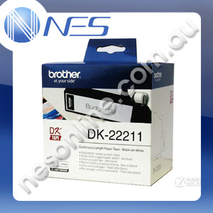 Brother DK22211 WHITE CONTINUOUS FILM ROLL 29MM X 15.24M Labels for QL-500/550/570/580 [DK-22211]