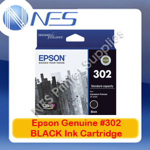 Epson Genuine #302 BLACK Ink Cartridge for Expression Premium XP-6000 [T01V192]