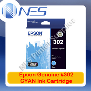 Epson Genuine #302 CYAN Ink Cartridge for Expression Premium XP-6000 [T01W292]