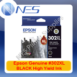 Epson Genuine #302XL BLACK High Yield Ink Cart for Expression XP-6000/6100 [T01X192]