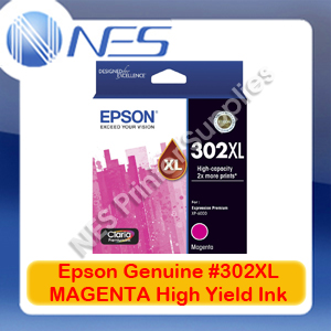 Epson Genuine #302XL MAGENTA High Yield Ink Cart for Expression XP-6000/6100 [T01Y392]