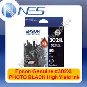 Epson Genuine #302XL PHOTO BLACK High Yield Ink Cart for Expression XP-6000/6100 [T01Y192]