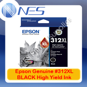 Epson Genuine #312XL-BK BLACK High Yield Ink Cartridge for XP-8500/XP-15000 (T183192)