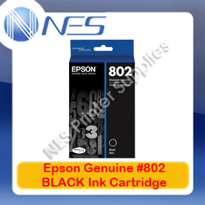 Epson Genuine #802 BLACK Ink Cartridge for WorkForce WF-4720/WF-4740/WF-4745 (C13T355192)