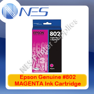Epson Genuine #802 MAGENTA Ink Cartridge for WorkForce WF-4720/WF-4740/WF-4745 (C13T355392)