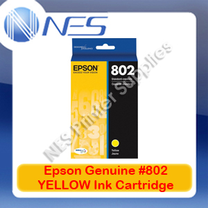 Epson Genuine #802 YELLOW Ink Cartridge for WorkForce WF-4720/WF-4740/WF-4745 (C13T355492)