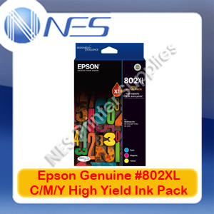 Epson Genuine #802XL C/M/Y High Yield Ink Set->WF-4720/WF-4740/WF-4745 T356592