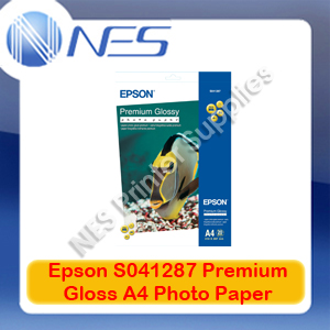 Epson Genuine S042071/S041287 A4 Premium Gloss Photo Paper (20 Sheets) 255GSM