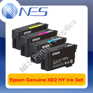 Epson Genuine UltraChrome XD2 BK(80ml) & C/M/Y(50ml) HY Ink Set ->T3160/T5160
