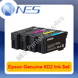 Epson Genuine UltraChrome XD2 BK(50ml) & C/M/Y(26ml) Ink Set ->T3160/T5160