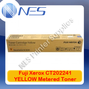 Fuji Xerox Genuine CT202241 YELLOW Metered Toner for DocuCentre SC2020/DC-SC2020NW (3.5K)