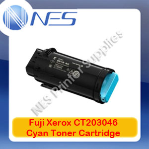 Fuji Xerox Genuine CT203046 Cyan Toner Cartridge for CP505D 11k pages