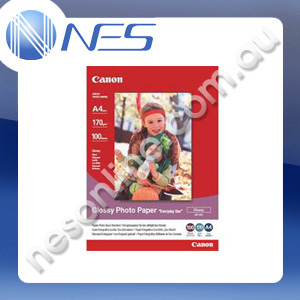 Canon A4 Glossy Photo Paper 170gsm (100x sheets) [P/N:GP501A4]