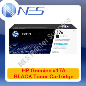 HP Genuine #17A BLACK Toner Cartridge for LaserJet M102/M130/M102w 1.6K [CF217A]
