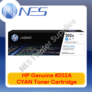 HP Genuine #202A CYAN Toner Cartridge for M254dw/M254nw/M280nw/M281fdn [CF501A]