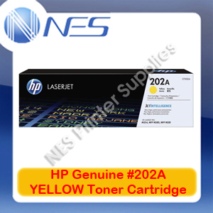 HP Genuine #202A YELLOW Toner Cartridge for M254dw/M254nw/M280nw/M281fdn [CF502A]
