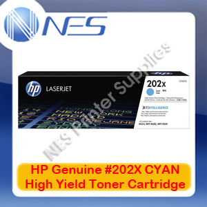 HP Genuine #202X CYAN High Yield Toner Cartridge for M254dw/M254nw/M280nw [CF501X]