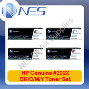 HP Genuine #202X BK/C/M/Y High Yield (Set of 4) Toner Cartridge for M281fdw/M281fdn/M280nw [CF500X-CF503X]
