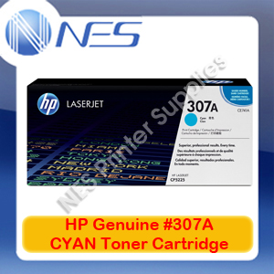 HP Genuine #307A CYAN Toner Cartridge for Color LaserJet CP5220/CP5221dn/CP5223dn/CP5223n/CP5225dn [CE741A] 7.3K