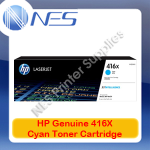 HP Genuine 416X Cyan Toner Cart for M479fnw/M479dw/M454nw/M454dw/M454dn 6K