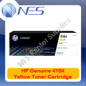 HP Genuine 416X Yellow Toner Cart for M479fnw/M479dw/M454nw/M454dw/M454dn 6k