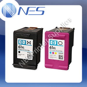 HP Genuine 61XL Combo Black+TriColor Ink Cartridges CH563WA CH564WA