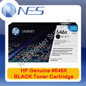 HP Genuine #646X BLACK Toner Cartridge for HP LaserJet CM4540/CM4540f/CM4540fskm [CE264X] 17K