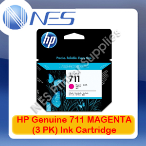 HP Genuine 711 MAGENTA (3PK) Ink Cartridge for Designjet T120/T520 (CZ135A)