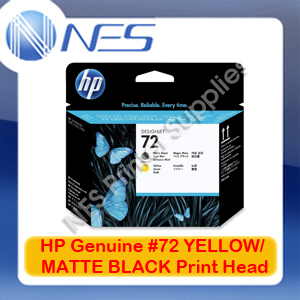 HP Genuine #72 MATTE BLACK/YELLOW Print Head for T610/T1200/T1300/T2300 [C9384A]