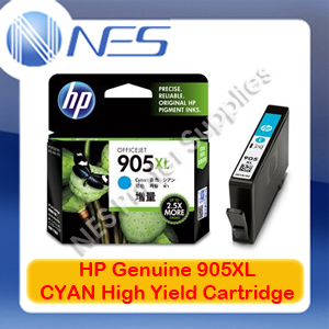 HP Genuine #905XL-C CYAN High Yield Ink Cartridge for Officejet 6950/6960/6970 P/N:T6M05AA