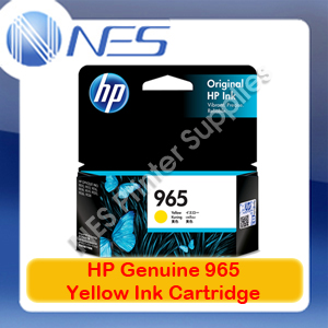 HP Genuine #965 Yellow Ink Cartridge for Officejet Pro 9028/9026/9020/9019/9018/9016