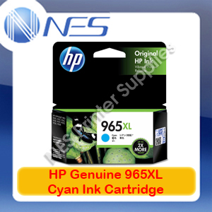 HP Genuine #965XL Cyan Ink Cart for Officejet Pro 9028/9026/9020/9019/9018 1.6K