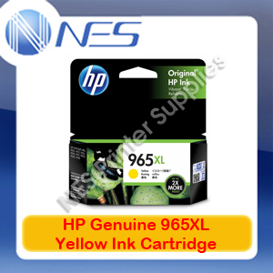 HP Genuine #965XL Yellow Ink Cart for Officejet Pro 9028/9026/9020/9019/9018 1.6K