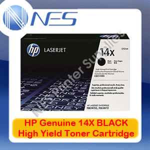 HP Genuine #14X BLACK High Yield Toner Cartridge for LaserJet Enterprise 700 M712/M712dn/M712n/M712xh/M725/M725dn/M725n/M725xh [CF214X] 17K