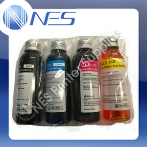 NES Edible Cake Refill Ink Set (100ml x4) for Canon Printer PGI650/CLI651 PGI525/CLI526