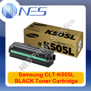 Samsung Genuine CLT-K505L BLACK High Yield Toner Cartridge for SL-C2620DW/SL-C2670FW/SL-C2680FX (6K) SU169A