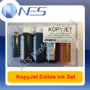 KopyJet Edible Cake Refill Ink Set (68ml x4) for Canon Printer PGI650/CLI651 PGI525/CLI526