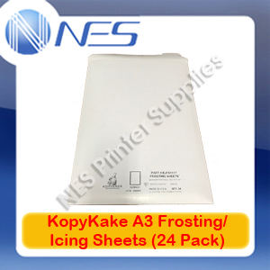 KopyKake A3 Icing/Frosting Sheets (24 Pack) for Edible Ink Cake Printing 10x16""