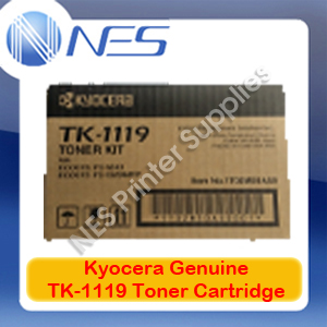 Kyocera Genuine TK-1119 BLACK Toner Cartridge for FS-1041/FS-1320MFP 1600 Pages [TK1119]