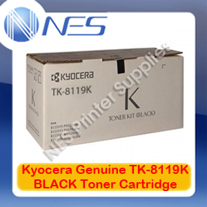 Kyocera Genuine TK-8119K BLACK Toner Cartridge for M8124cidn/M8130cidn (12K)
