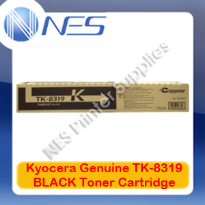 Kyocera Genuine TK-8319BK BLACK Toner Cartridge for TASKalfa 2550ci (12K Pages)