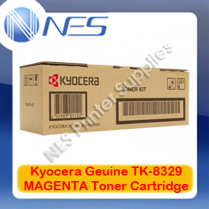 Kyocera Genuine TK-8329M MAGENTA Toner Cartridge for TASKalfa 2551ci (12K Pages)
