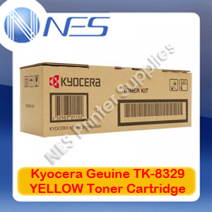 Kyocera Genuine TK-8329Y YELLOW Toner Cartridge for TASKalfa 2551ci (12K Pages)