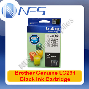 Brother Genuine LC-231BK BLACK Ink Cartridge for DCP-J562DW/J480DW/J680DW/J880DW